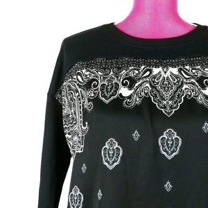 Zara Size Small Bandana Print Long Sweater
